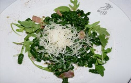 Vegetables with grated cheese