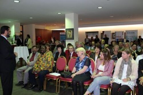 Audience at an event by Dr. Sabarini