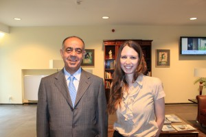 Dr. Mohammad Hallaiqah with Ms Elena Ferenz, the clinic manager