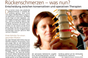 Newspaper article from Gesundheitsmagazin