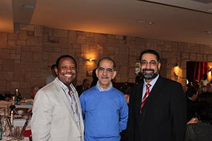 Dr. Sabarini with guests at an event in the Avicenna Clinic