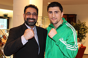 Dr. Sabarini with Marco Huck