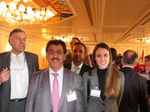 Clinic manager at the Avicenna Clinic with colleagues at an event in Munich