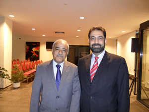 Dr. Sabarini with the Palestinian Health Minister