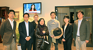 The Japanese delegation visiting the Avicenna Clinic
