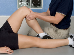 Bent leg in physiotherapy