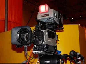 Photograph of a professional video camera